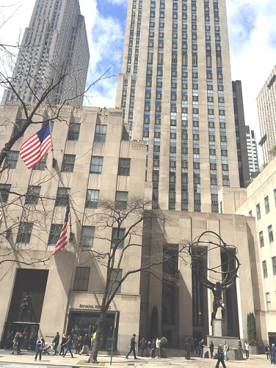 50th Avenue Entrance to CHF Rockefeller Center office. J-1 Visa